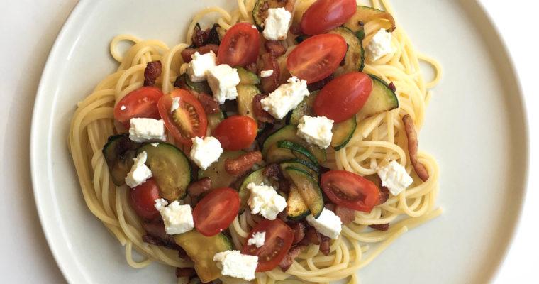 Recette Spaghetti aux légumes
