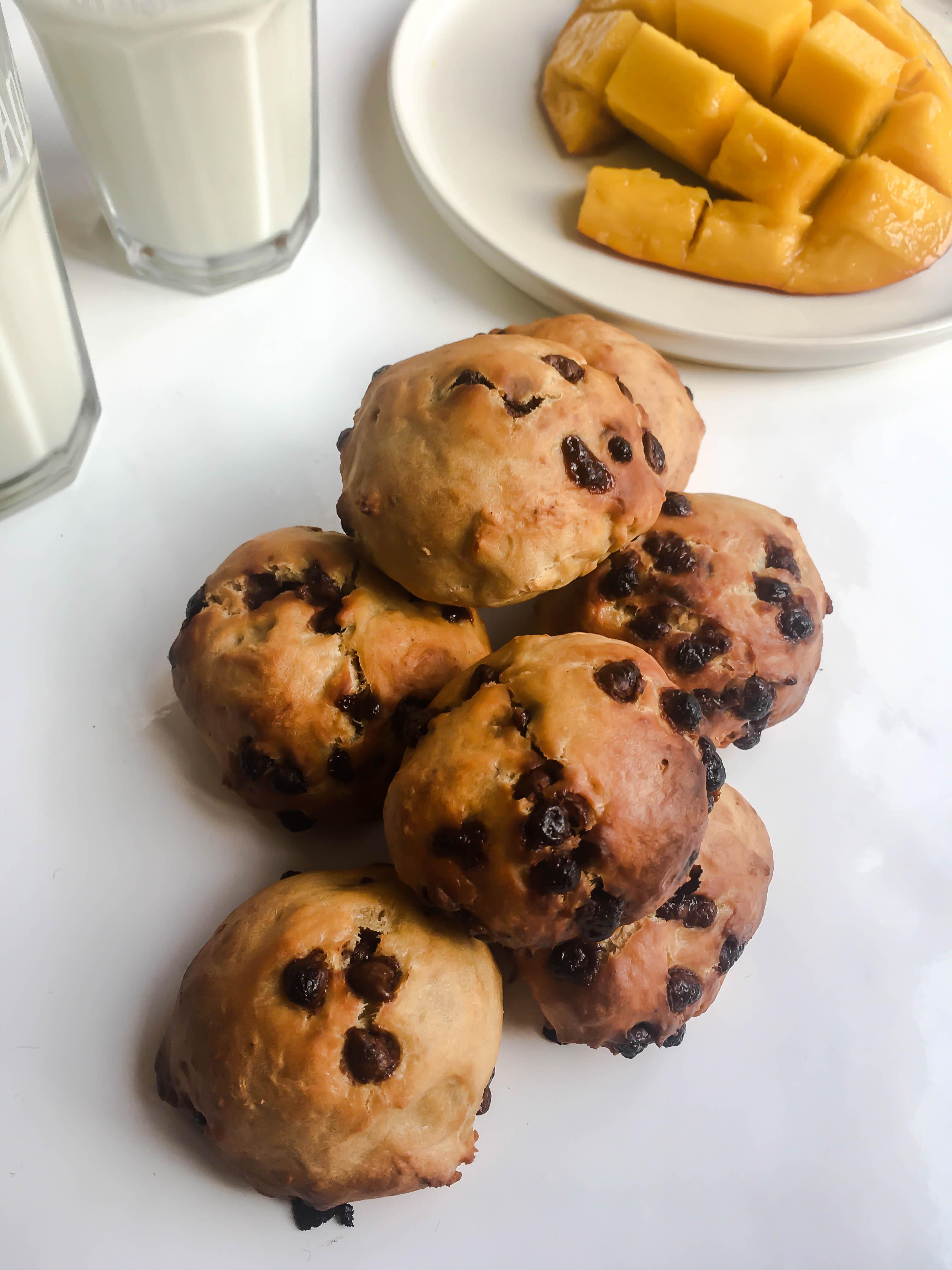 Petits pains aux pépites de chocolat