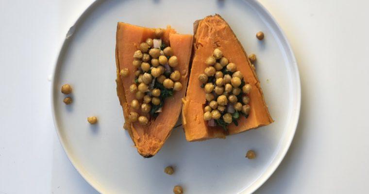 Patate douce aux pois chiche