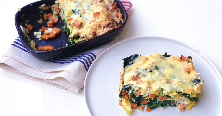 Lasagnes ricotta et patate douce