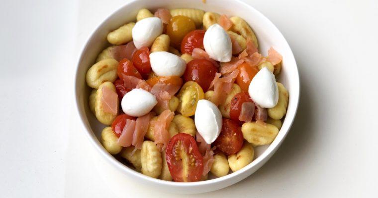Gnocchis tomate saumon et mozza